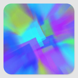 青の抽象芸術 スクエアシール
