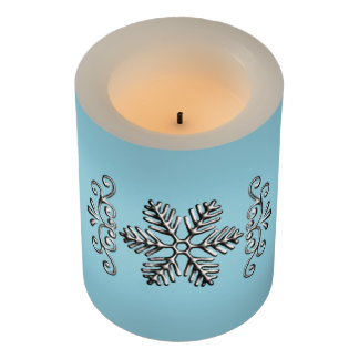 青の敏感な銀製の雪片 LEDキャンドル