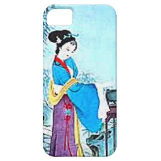 青の日本のな女性 iPhone SE/5/5s ケース