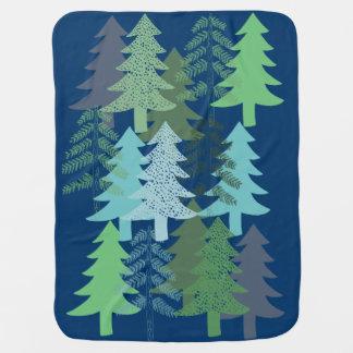 青の木 ベビー ブランケット