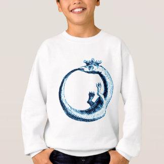 青の永遠の蛇のヴィンテージのプリント スウェットシャツ