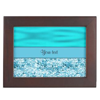 青の波及びグリッター ジュエリーボックス