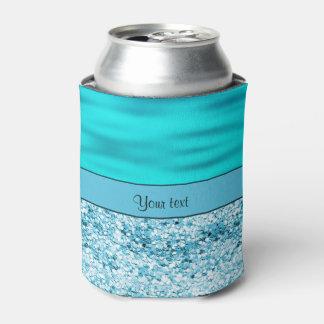 青の波及びグリッター 缶クーラー