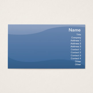 青の波-ビジネス 名刺