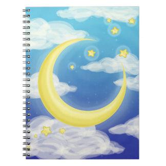 青の淡い色のな月 ノートブック