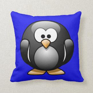 青の漫画のペンギン クッション