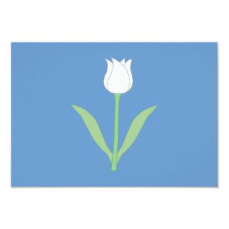 青の白いチューリップ カード