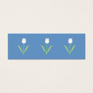 青の白いチューリップ スキニー名刺