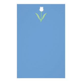 青の白いチューリップ 便箋