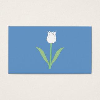青の白いチューリップ 名刺