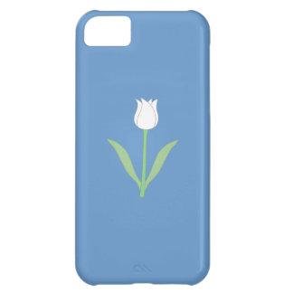 青の白いチューリップ iPhone5Cケース