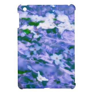 青の白いミズキの花 iPad MINI カバー