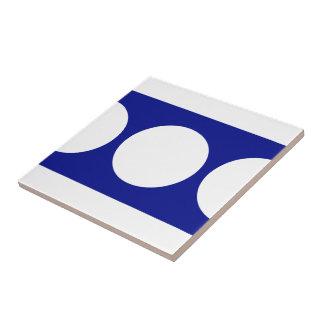 青の白い円 タイル