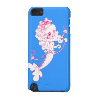 青の真珠の一連を握っているピンクの人魚 iPod TOUCH 5G ケース