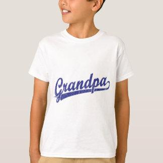 青の祖父の原稿のロゴ Tシャツ