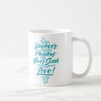 青の私の本当の情熱のマグを発見して下さい コーヒーマグカップ