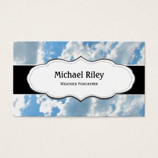 青の空および雲の名刺 名刺