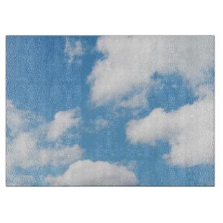青の空および雲 カッティングボード
