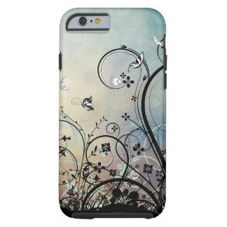 青の空及び蝶iPhone 6の場合 ケース