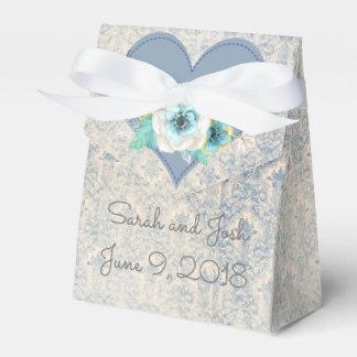 青の結婚式の引き出物 フェイバーボックス
