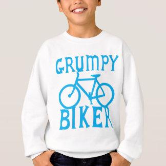 青の自転車を持つGRUMYのバイクもしくは自転車に乗る人 スウェットシャツ