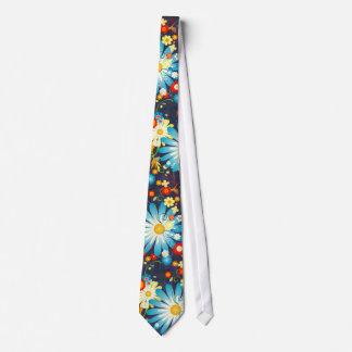 青の色の花の爆発 オリジナルネクタイ