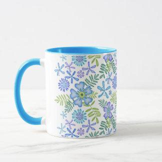 青の花 マグカップ