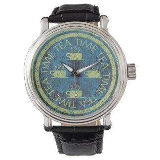 青の茶時間ライムグリーン 腕時計
