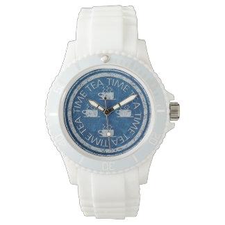 青の茶時間銀 腕時計