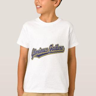 青の見事な失敗の原稿のロゴ Tシャツ