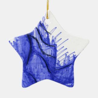青の貝殻の海岸 セラミックオーナメント
