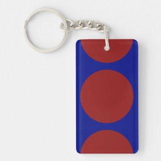 青の赤い円 キーホルダー