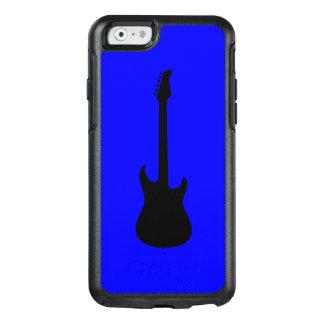 青の近代音楽の黒のエレキギター オッターボックスiPhone 6/6Sケース