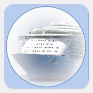 青の遊航船のカメオ スクエアシール
