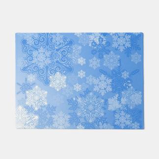 青の雪片 ドアマット