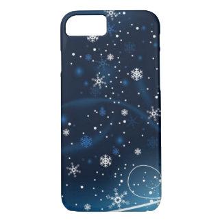 青の雪片 iPhone 8/7ケース