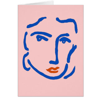 青の顔、Matisseのスタイル カード