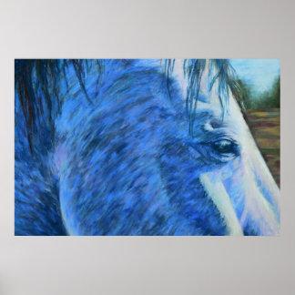青の馬の勉強 ポスター