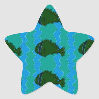 青の魚 星シール