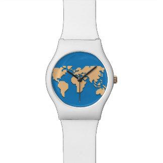 青の黄色 腕時計
