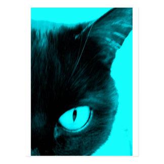 青の黒猫 ポストカード
