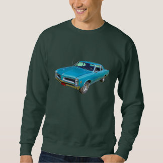 青の1966年のポンティアクルマン筋肉車 スウェットシャツ