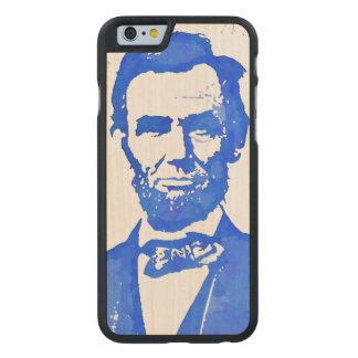 青のAbeリンカーンのポップアートのポートレート ケース