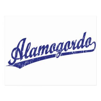 青のAlamogordoの原稿のロゴ ポストカード