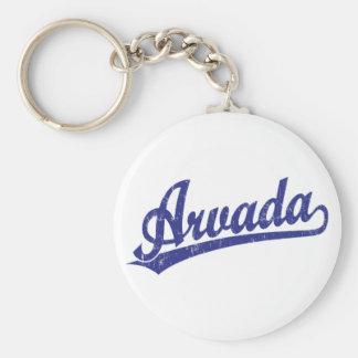 青のArvadaの原稿のロゴ キーホルダー