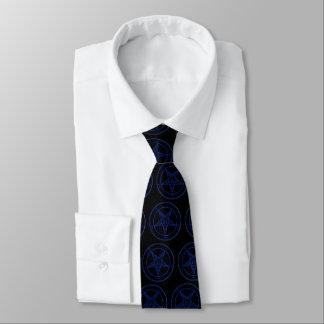 青のBaphomet ネクタイ
