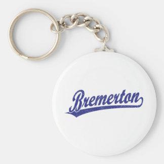 青のBremertonの原稿のロゴ キーホルダー