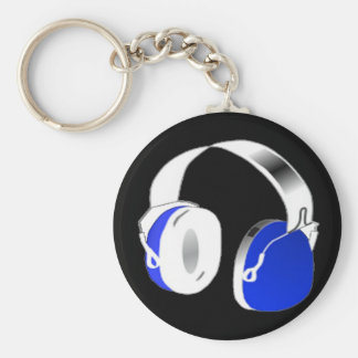 青のDJのヘッドホーン キーホルダー