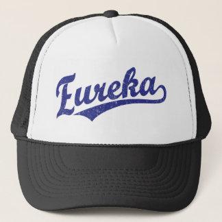 青のEurekaの原稿のロゴ キャップ