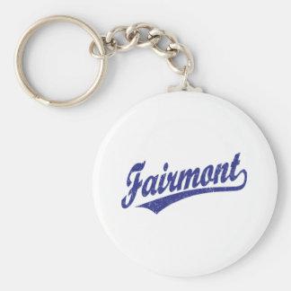 青のFairmontの原稿のロゴ キーホルダー